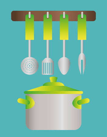 Home Kitchen concept  about supplies icons design, vector illustration 10 eps graphic. Illustration