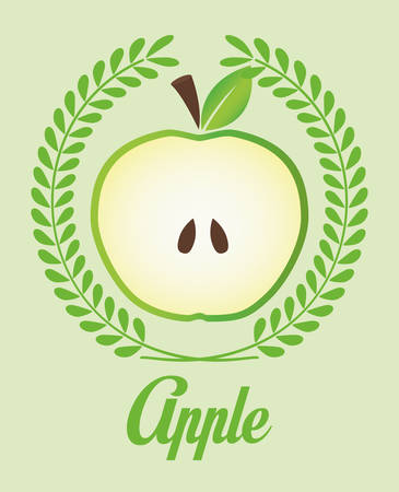 market gardening: Healthy food concept with apple design, vector illustration 10 eps graphic.