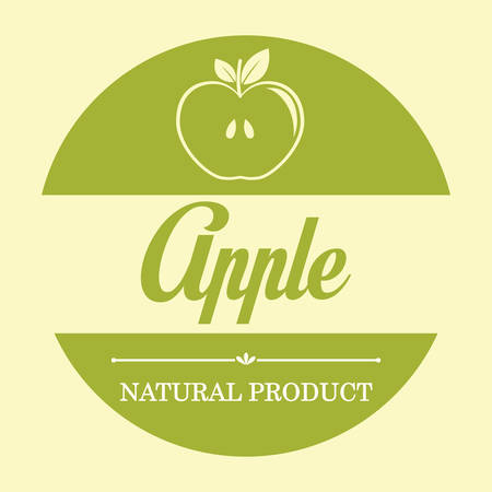 healthy snack: Healthy food concept with apple design, vector illustration 10 eps graphic.