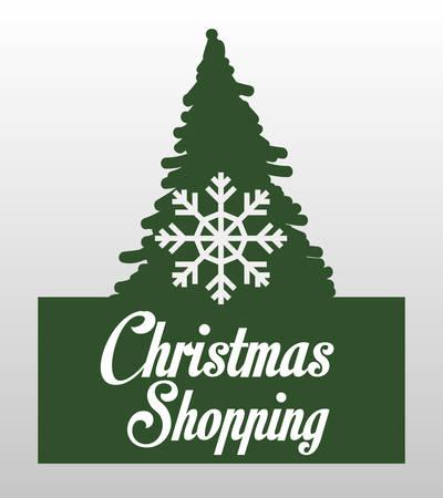 albero pino: Concetto di Buon Natale con disegno pino, illustrazione vettoriale 10 eps grafica.