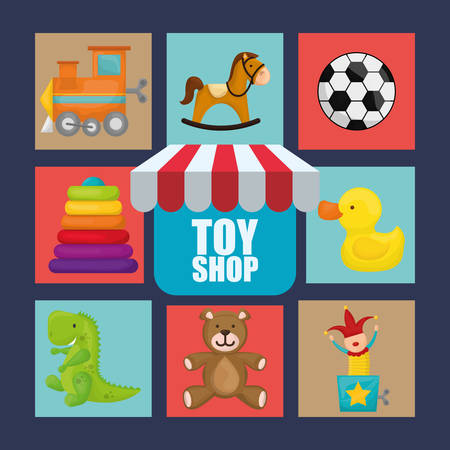 toy shop: Toy shop concept and childhood icons design, vector illustration 10 eps graphic.