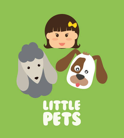 best protection: Pets Love concept about  dog and her master, vector illustration 10 eps graphic.