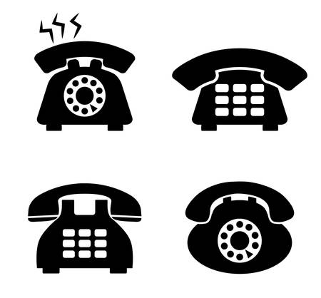 communication icons: Communication icons, telephone and devices design, vector illustration Illustration