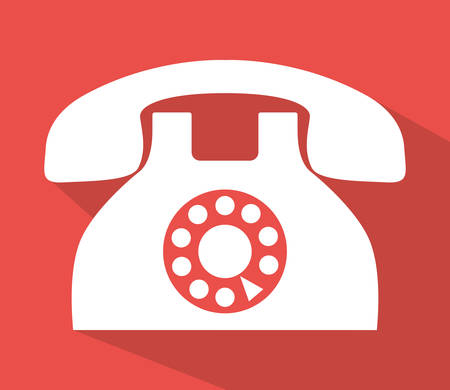 telephone icons: Communication icons, telephone and devices design, vector illustration Illustration