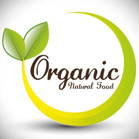 natural food: Organic natural food label design, vector illustration eps 10.