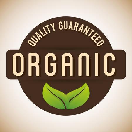 alimentacion natural: Dise�o org�nico etiqueta de un alimento natural, ilustraci�n vectorial eps 10. Vectores