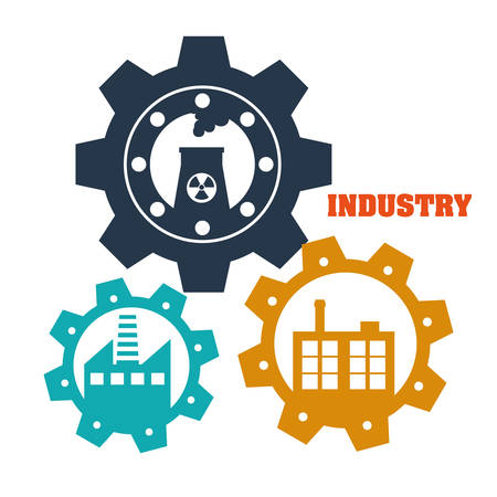 building industry: Factory,industry and business design, vector illustration eps 10. Illustration
