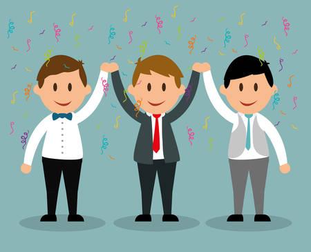 achievement concept: Success concept, Business entrepreneur cartoon design, vector illustration Illustration