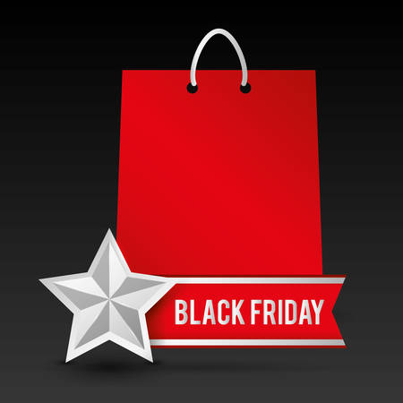 bags: Black friday shopping design, vector illustration eps 10.