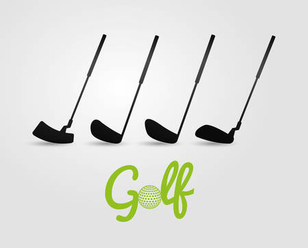 golf stick: Golf sport design, vector ilustration eps 10.