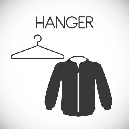 clothing rack: Hanger concept with clothes design, vector illustration 10 eps graphic.