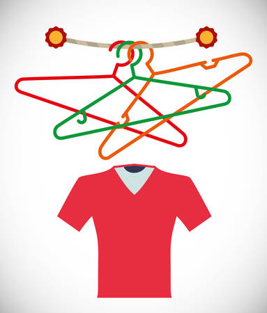 cloakroom: Hanger concept with clothes design, vector illustration 10 eps graphic.