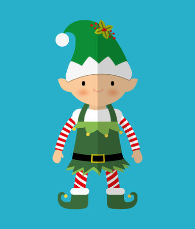 irish christmas: Merry christmas card and icons design, vector illustration.