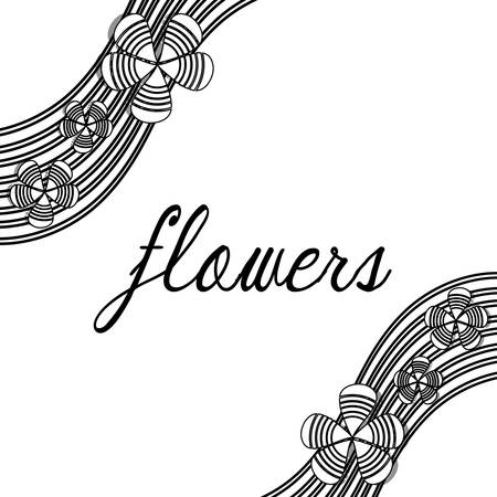 borders abstract: Flowers, card design vector illustration