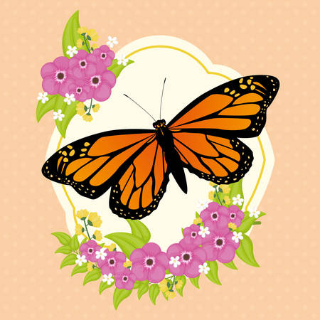 antennae: Butterfly insect and natural icons design, vector illustration