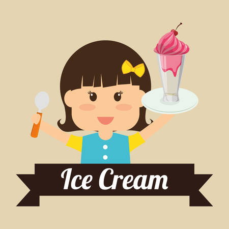 ice cream design: Dessert concept  about sweet ice cream design, vector illustration