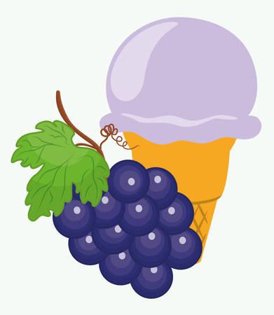 creme: Dessert concept  about sweet ice cream design, vector illustration   Illustration