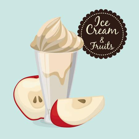sorbet: Dessert concept  about sweet ice cream design, vector illustration   Illustration