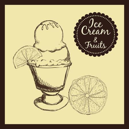 sorbet: Dessert concept  about sweet ice cream design, vector illustration
