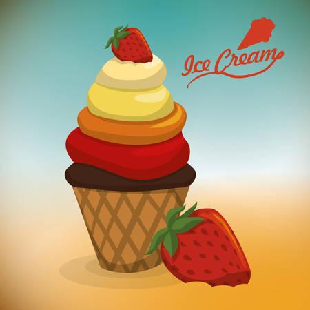 ice cream design: Dessert concept  about sweet ice cream design, vector illustration   Illustration