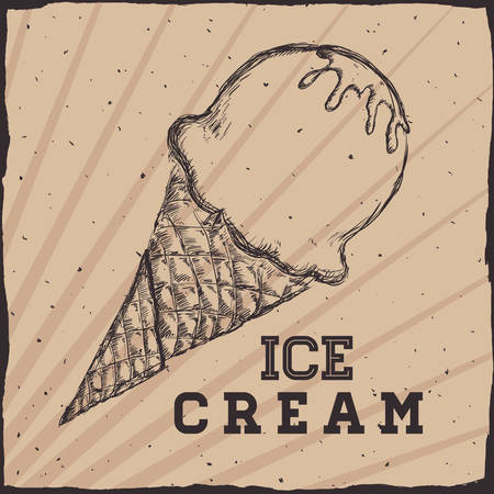 sorbet: Dessert concept  about sweet ice cream design, vector illustration   graphic.