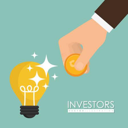 shareholder: Business investors design, vector illustration eps 10