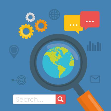 SEO Search Engine Optimization design, vector illustration.