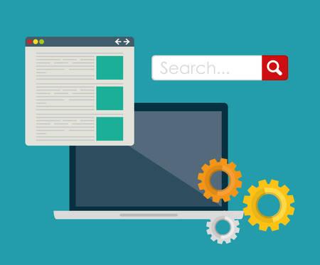 search engine: SEO Search Engine Optimization design, vector illustration.