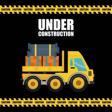 construction industry: Under construction concept, industry design vector illustration. Illustration
