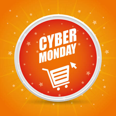 Cyber monday sales ecommerce design, vector illustration.