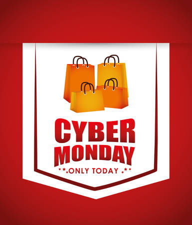 monday: Cyber monday sales ecommerce design, vector illustration.