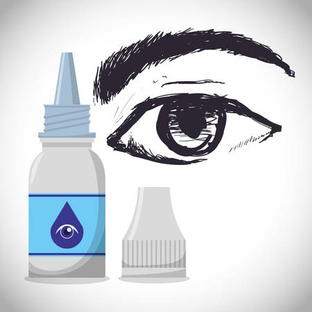 eye service: Medical concept with health care icons design, vector illustration 10 eps graphic.