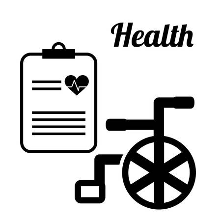 historia clinica: Medical concept with health care icons design, vector illustration 10 eps graphic.