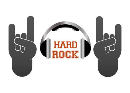 hardcore: Hard Rock design with music icon design, vector illustration 10 eps graphic.