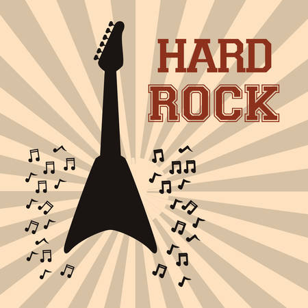 hard rock: Hard Rock design with music icon design, vector illustration 10 eps graphic.