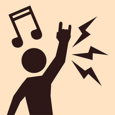 hardcore: Hard Rock design with music icon design, vector illustration 10 eps graphic.