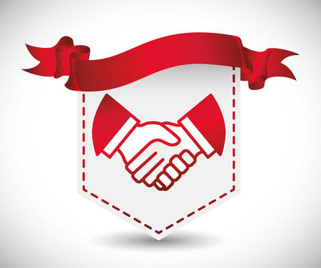 bussines: hand shake concept with business icon design, vector illustration 10 eps graphic. Illustration