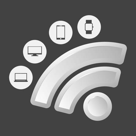 free image: Wifi concept with technology icon design, vector illustration 10 eps graphic. Illustration