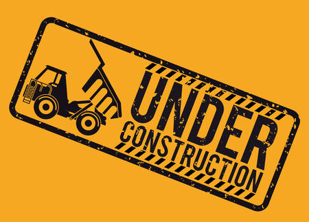 web site background: Under construction concept with tools design, vector illustration 10 eps graphic.