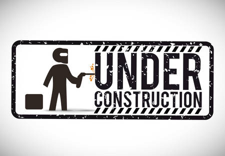 construct site: Under construction concept with tools design, vector illustration 10 eps graphic.
