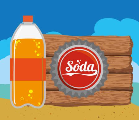 Drink concept about soda design, vector illustration