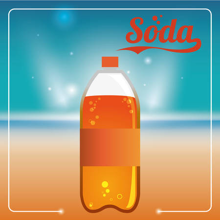 carbonated: Drink concept about soda design, vector illustration