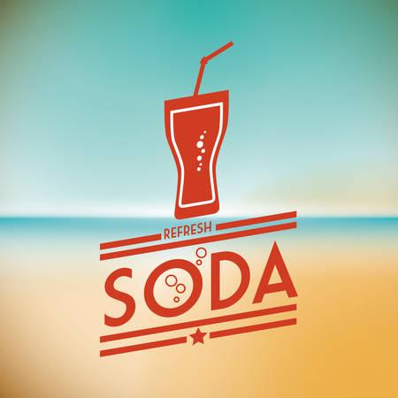 coke: Drink concept about soda design, vector illustration