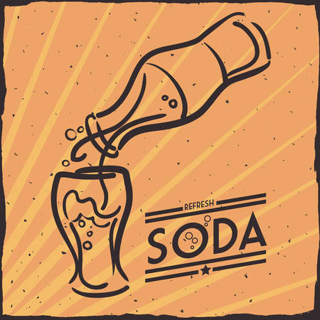 condensation on glass: Drink concept about soda design, vector illustration 10 eps graphic. Illustration
