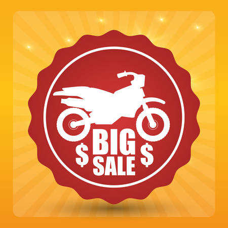 whit: Motorcycle concept whit offer icon design, vector illustration