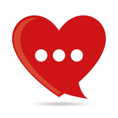 love icon: Chat speech bubbles design, vector illustration  Illustration