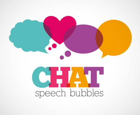 chat bubbles: Chat speech bubbles design, vector illustration  Illustration