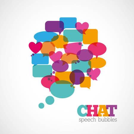 talking cartoon: Chat speech bubbles design, vector illustration  Illustration
