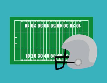 campo di calcio: Disegno di football americano, illustrazione vettoriale