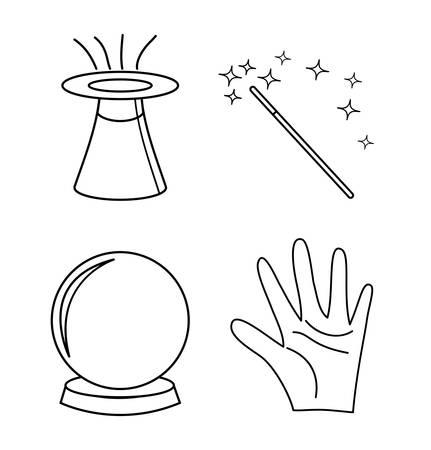 glow stick: Magic world design, vector illustration eps 10. Illustration